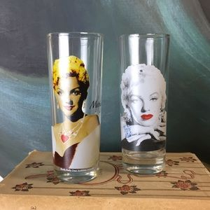 3/$25 SALE! Marilyn Monroe Shot Glasses Set of 2